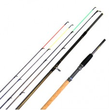 11FT CARBON TWIN TIP AVON QUIVER ROD WITH 3 PUSH IN TIPS AND CORK HANDLE 1104+3 CARBON, extra £10.00 of price when collected from store