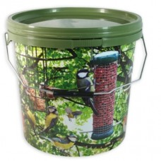 5 Litre Camo Bird, Bait Bucket with Metal Handle