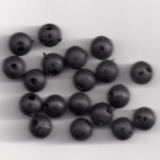 6mm SOFT RUBBER SHOCK BEADS FOR RIGS & STOPS BLACK Pack of 20 approx (made in uk)