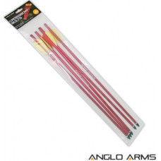 16 inch Aluminum Crossbow Bolts Anglo Arms Pack of 5
