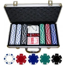 300 Piece Dice Design Poker Chip Set