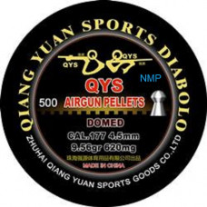 Qiang Yuan Sports, QYS FT Domed Airgun pellets .177 calibre 4.49mm 9.56 grains tub of 500 Heavy