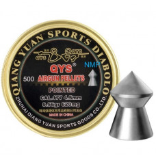 Qiang Yuan Sports, QYS Pointed Airgun pellets .177 calibre 4.50mm 9.56 grains tub of 500 Heavy