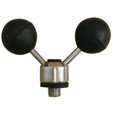 "STAINLESS STEEL BLACK ADJUSTABLE TWIN BALL ROD REST ""Mouse Ears"" (5601)"