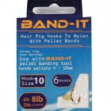 Band-it barbless hair rig hooks to nylon Size 10 (BAN120)