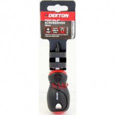 DEKTON POZI No2 SCREWDRIVER 38MM (stubby)