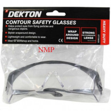 DEKTON CONTOUR CLEAR SAFETY GLASSES (wrap-around design)